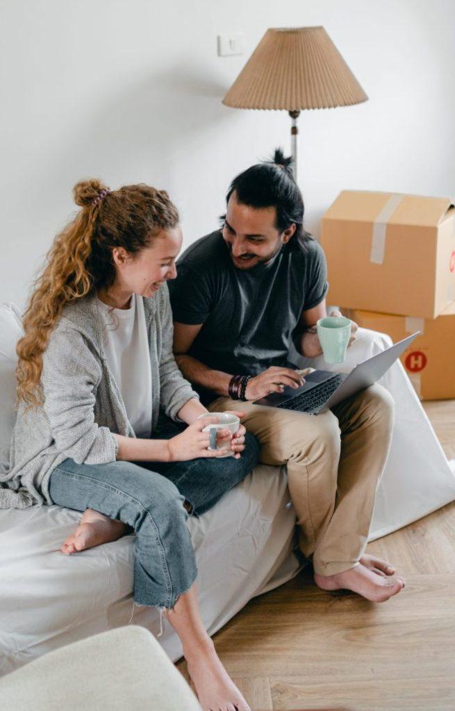 Couple planning finances